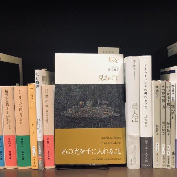 堀江敏幸『坂を見あげて』(中央公論新社)